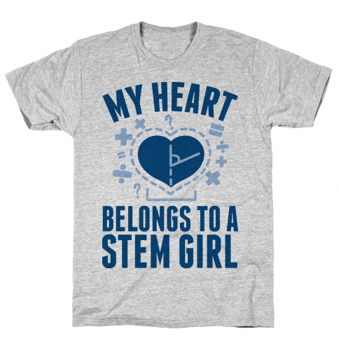 My Heart Belongs to a STEM Girl Mens T-Shirt