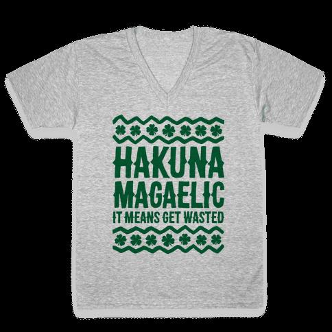 Hakuna Magaelic V-Neck Tee Shirt