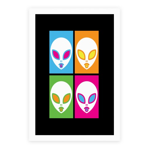 Pop Art Aliens Poster