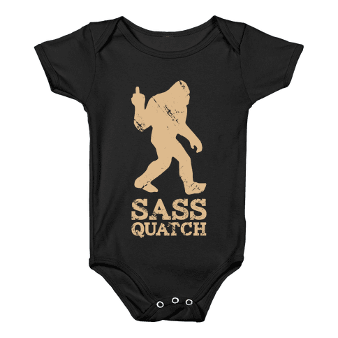 Sass Quatch Crossing Baby Onesy