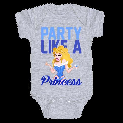 Party Like A Princess Baby Onesy