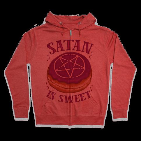 Satan is Sweet Zip Hoodie