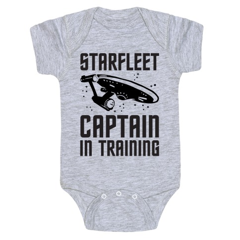 Starfleet Captain In Training Baby Onesy