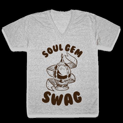 Soul Gem Swag V-Neck Tee Shirt