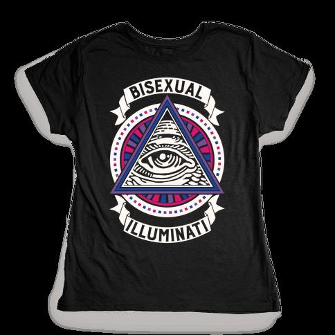 Bisexual Illuminati Womens T-Shirt