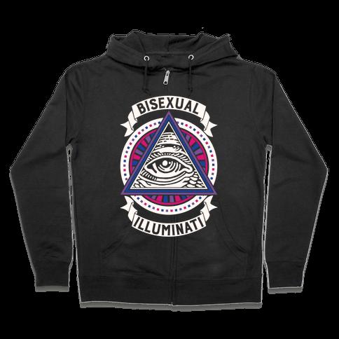 Bisexual Illuminati Zip Hoodie