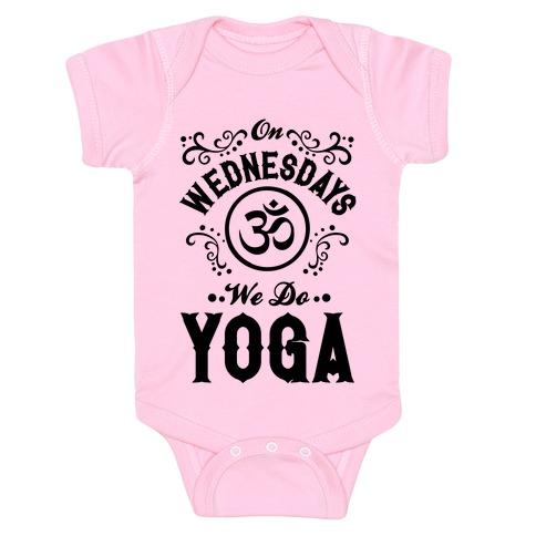 On Wednesday We Do Yoga Baby Onesy