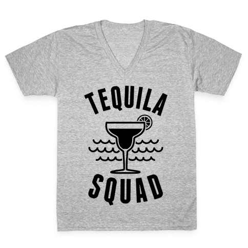 Tequila Squad V-Neck Tee Shirt