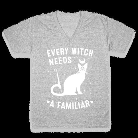 Every Witch Needs a Familiar V-Neck Tee Shirt