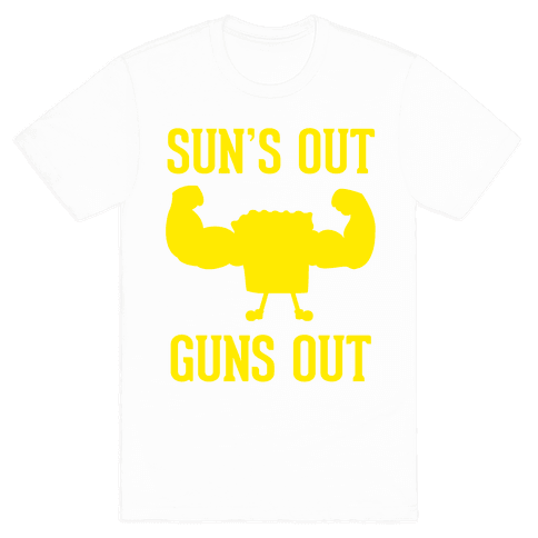 Sun's Out Guns Out Mens T-Shirt