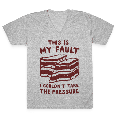 This Is My Fault V-Neck Tee Shirt
