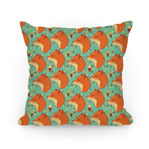 Spirit Fox Pattern Pillow