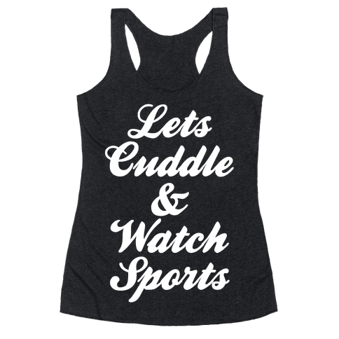 Cuddle & Sports Racerback Tank Top