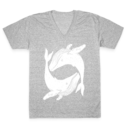 The Circle of Whales V-Neck Tee Shirt