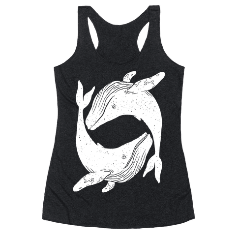 The Circle of Whales Racerback Tank Top