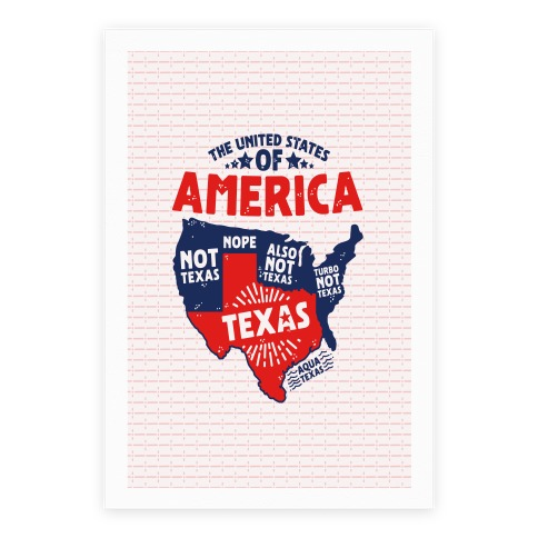 United States of Texas Poster