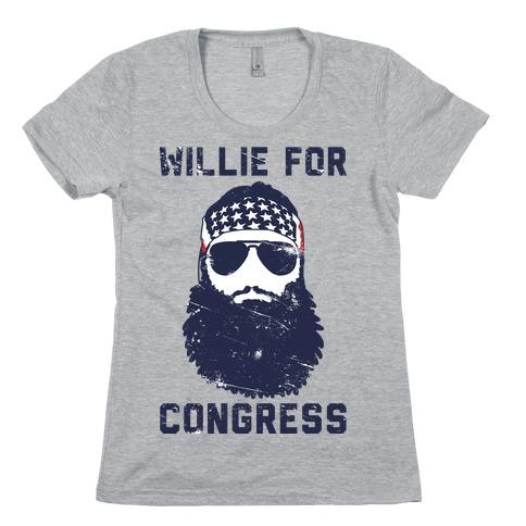 Willie For Congress Womens T-Shirt