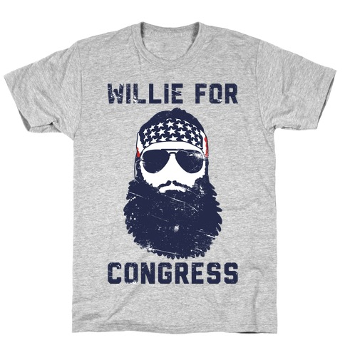 Willie For Congress  Mens T-Shirt