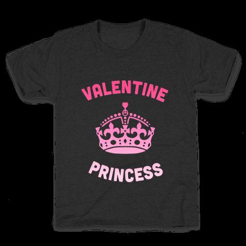 Valentine Princess (Dark) Kids T-Shirt