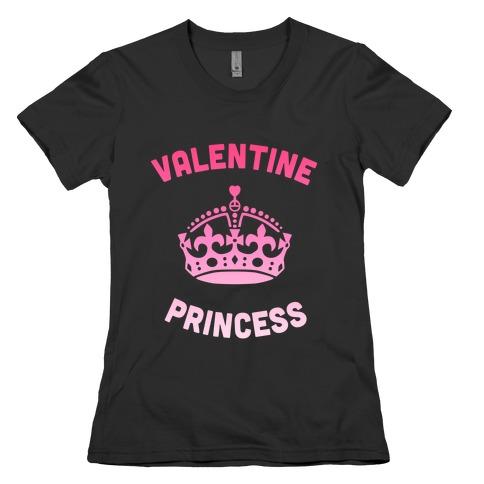 Valentine Princess (Dark) Womens T-Shirt