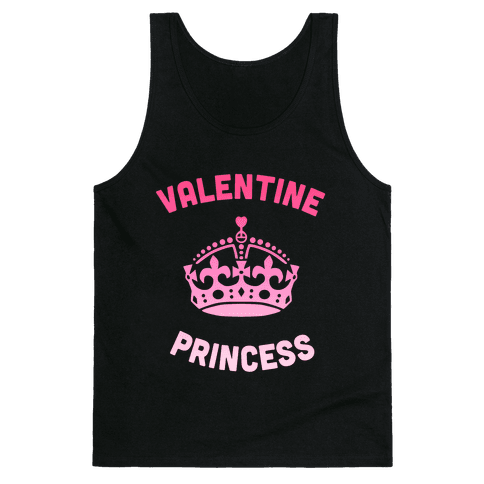 Valentine Princess (Dark) Tank Top