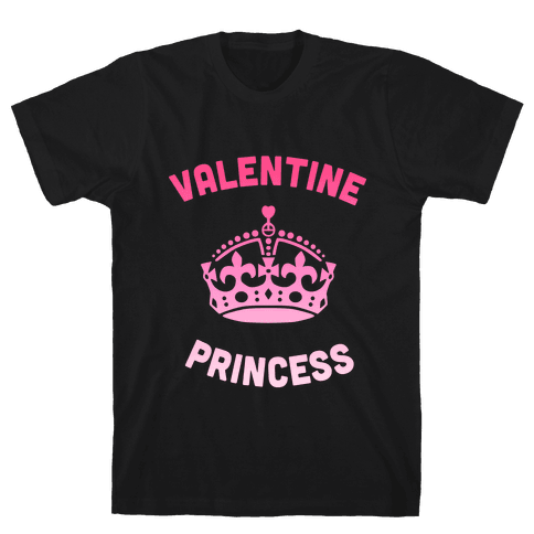 Valentine Princess (Dark) Mens T-Shirt