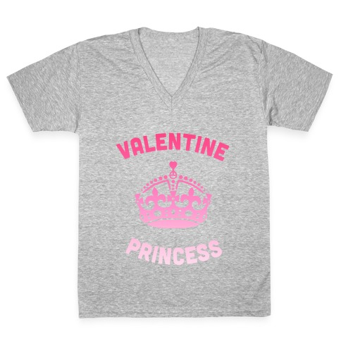 Valentine Princess (Dark) V-Neck Tee Shirt