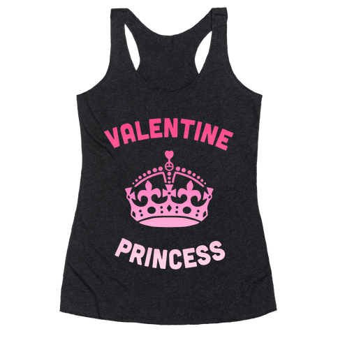 Valentine Princess (Dark) Racerback Tank Top