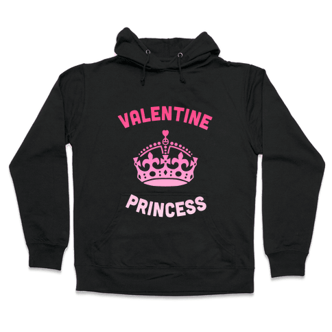 Valentine Princess (Dark) Hooded Sweatshirt
