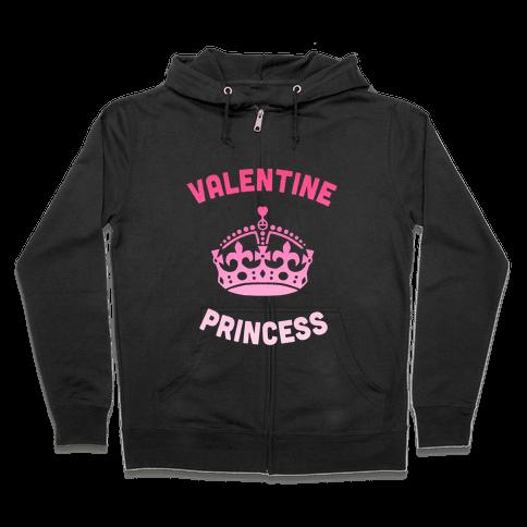Valentine Princess (Dark) Zip Hoodie