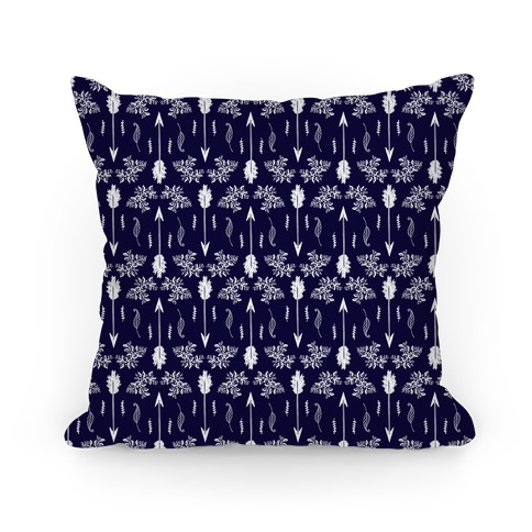 Navy Floral Arrow Pattern