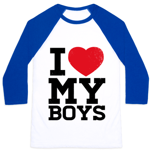 I Heart My Boys Baseball Tee