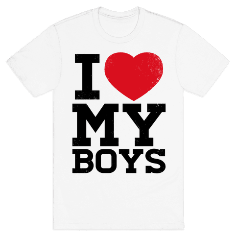 I Heart My Boys Mens T-Shirt