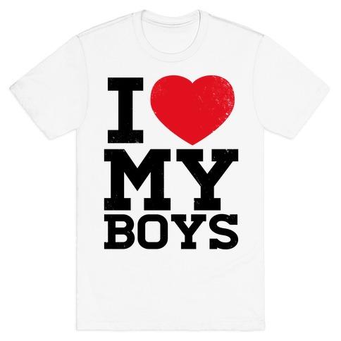 I Heart My Boys Mens T-Shirt