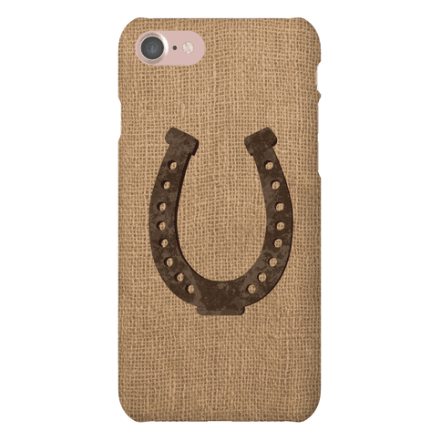 Faux Burlap Horseshoe Phone Case