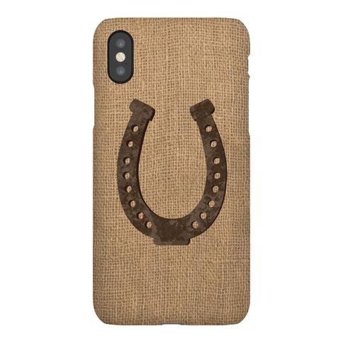 Faux Burlap Horseshoe Phone Case
