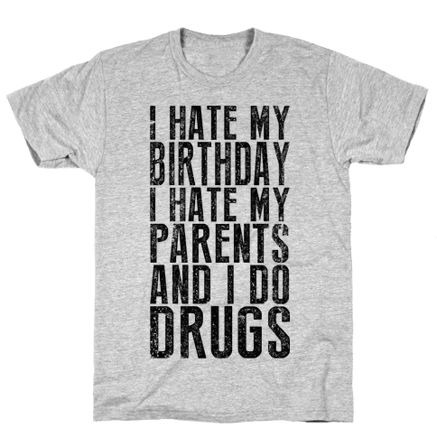I Hate My Birthday (Tank) Mens T-Shirt