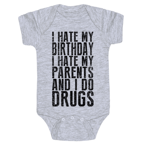 I Hate My Birthday (Tank) Baby Onesy