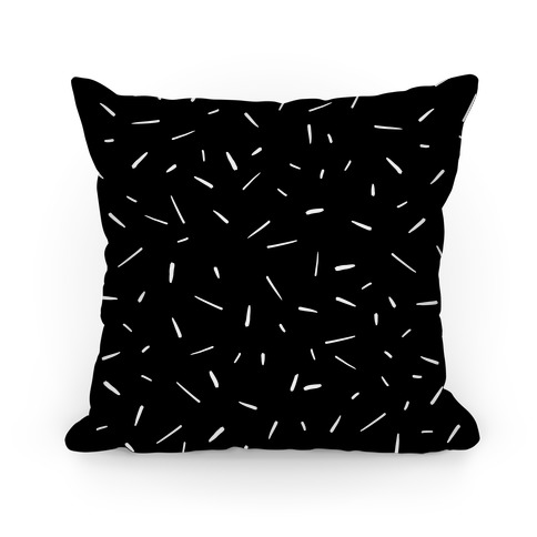 Black and White Confetti Pattern Pillow