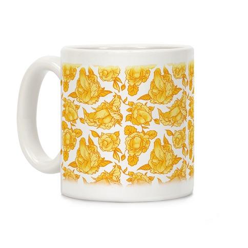 Floral Penis Yellow Coffee Mug