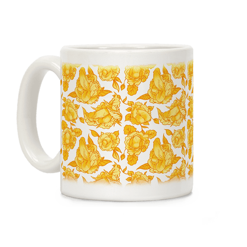 Floral Penis Yellow Coffee Mug
