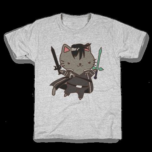 Cat Cosplay Kirito Kids T-Shirt