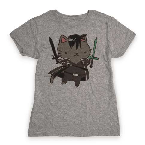 Cat Cosplay Kirito Womens T-Shirt