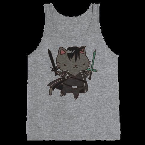 Cat Cosplay Kirito Tank Top
