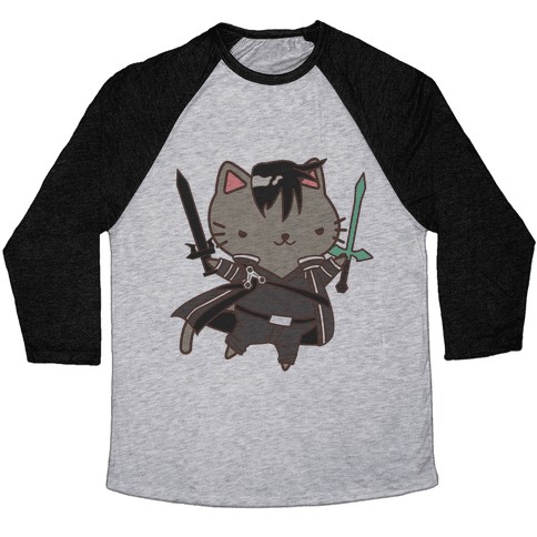 Cat Cosplay Kirito Baseball Tee