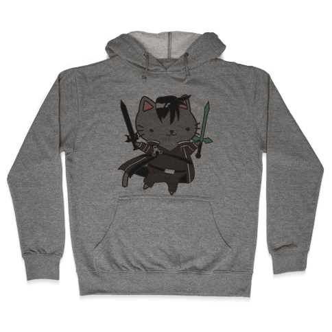 Cat Cosplay Kirito Hooded Sweatshirt