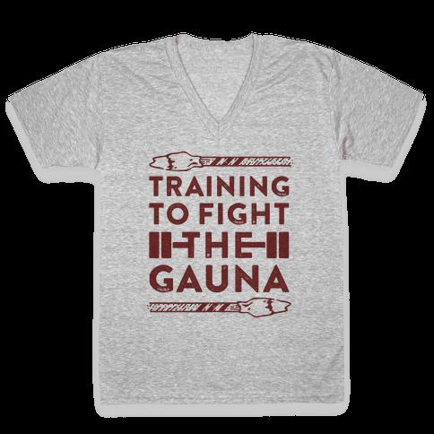 Training to Fight the Gauna V-Neck Tee Shirt