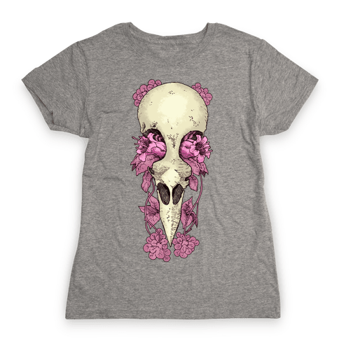 Bird Skull Womens T-Shirt
