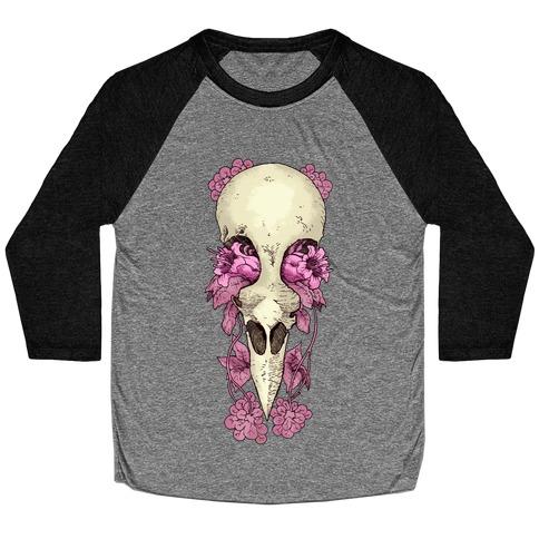 Bird Skull Baseball Tee