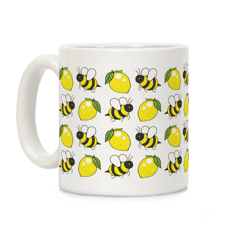 Lemon and Bee Coffee Mug